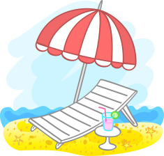 Sonnenschirm Strand Comic